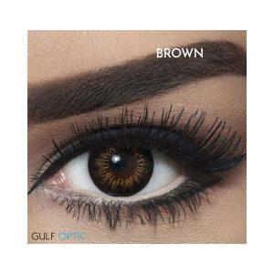 Bella Snow White Collection - Brown - 1 box 2 lenses