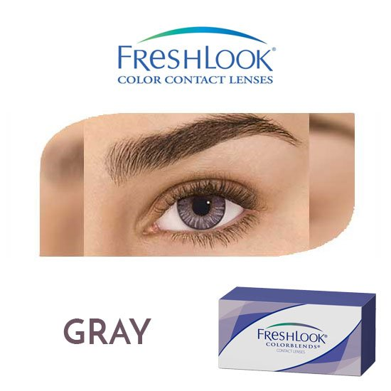 Freshlook Colorblends - Gray - 1 box 2 lenses
