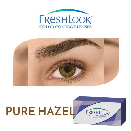 Freshlook Colorblends - Pure Hazel - 1 box 2 lenses