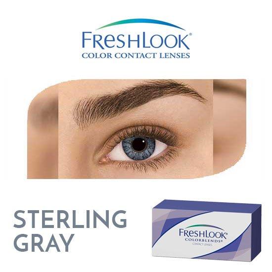 Freshlook Colorblends - Sterling Gray - 1 box 2 lenses