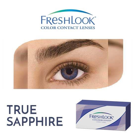 Freshlook Colorblends - True Sapphire - 1 box 2 lenses