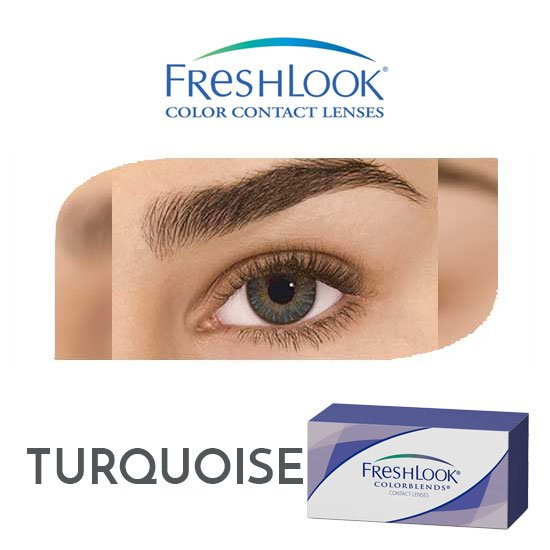Freshlook Colorblends - Turquoise - 1 box 2 lenses