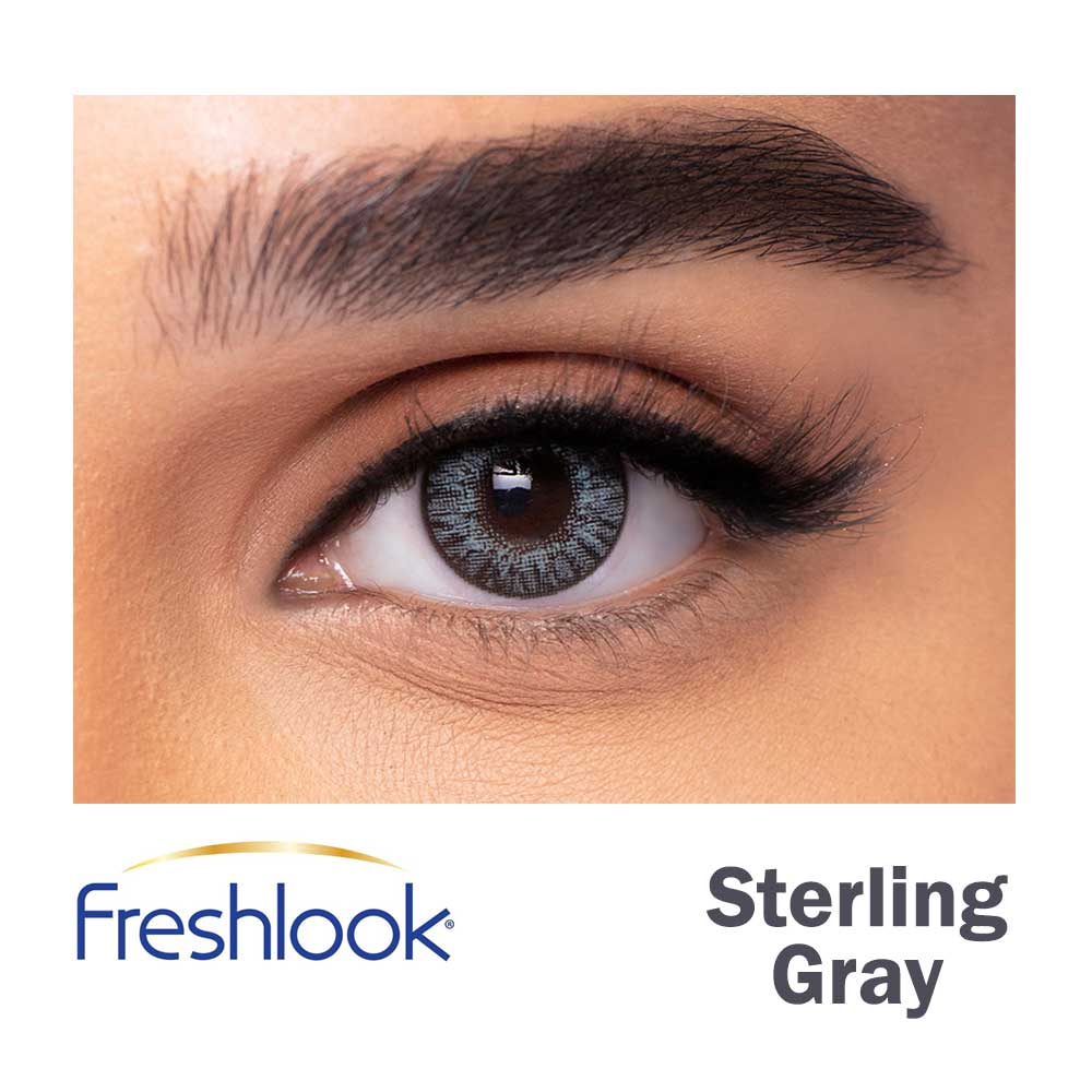 Freshlook Colorblends - Sterling Gray - 1 box 2 lenses - Gulf Optic