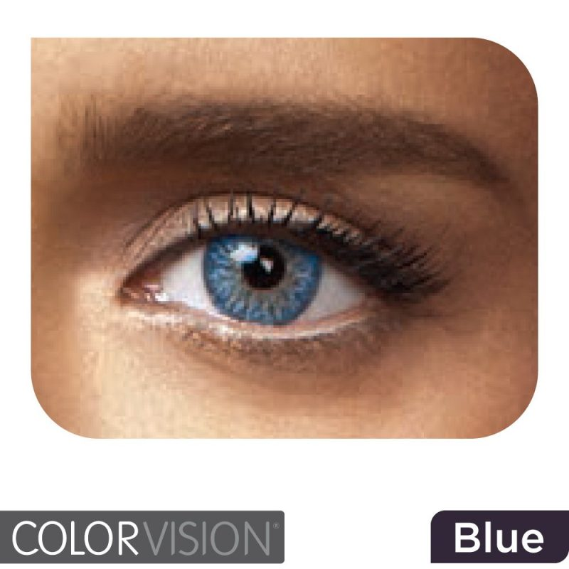 ColorVision Blue contact lens